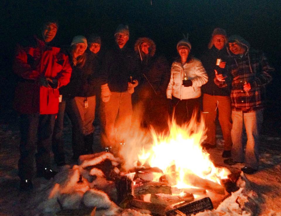 SHSC Lodge Backyard Bonfire
