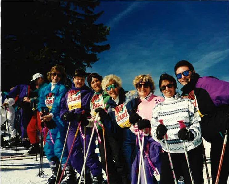 SHSC Racers - Vail Colorado 1995 - Susan Donlan, Barbara Ciechacki, Jean Flower, Jan Zymroz, Patti Hogan, Pam & Steve Richard